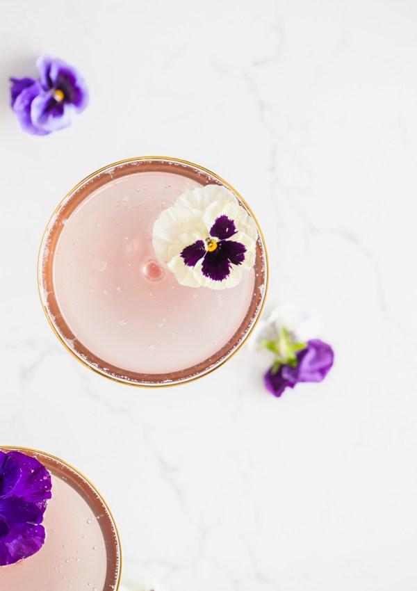 Spring Champagne Cocktail – Champs de Violette