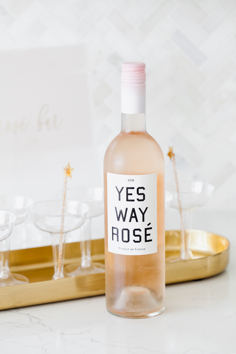 Rosé Bar - Yes Way - Baby Shower