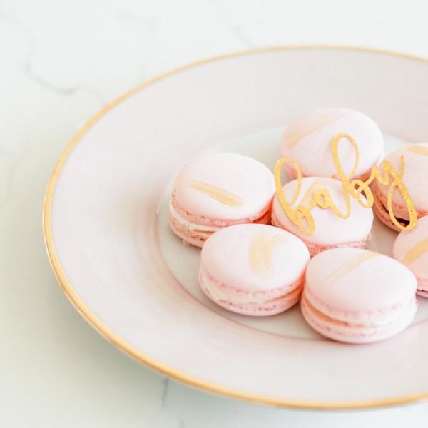 Pink Gold Macarons