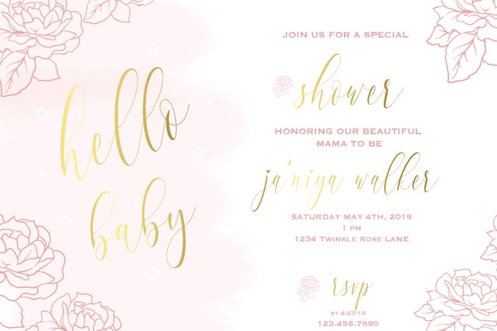 Baby Shower Invitation | Posh Little Designs