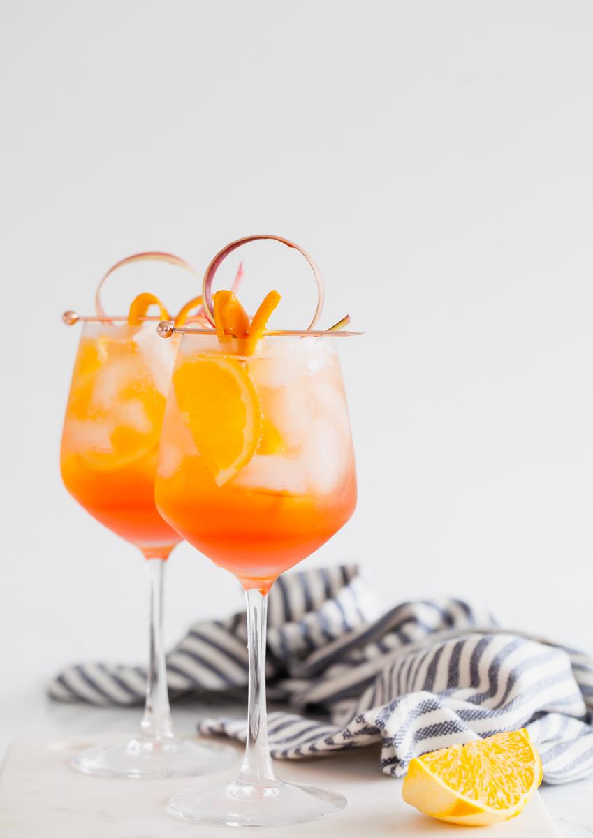 aperol spritz-rhubarb-cocktails-simple-recipes