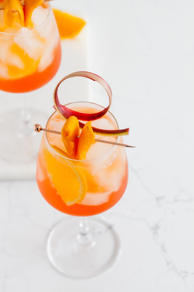 aperol spritz-rhubarb-cocktails-simple-recipes
