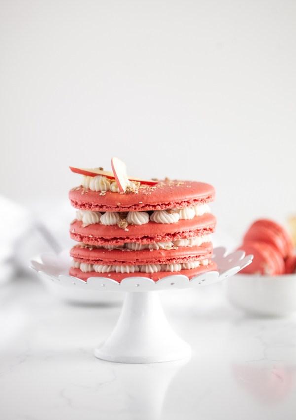 Apple Crisp Macaron Cake
