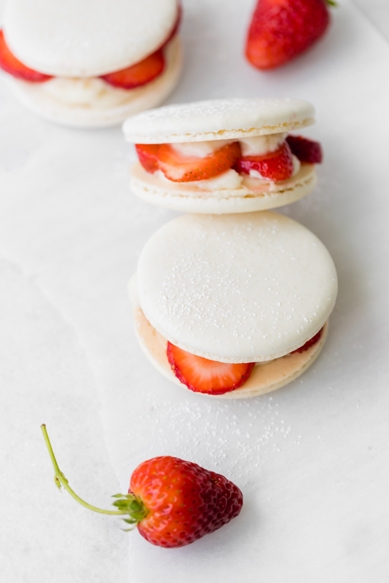 Strawberry shortcake macarons recipe _gluten_free_strawberry_recipes_shortcake_macarons_baking_dairy_free