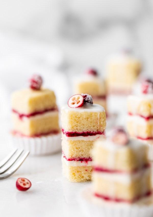 Cranberry Vanilla Bean Petit Fours – Gluten Free