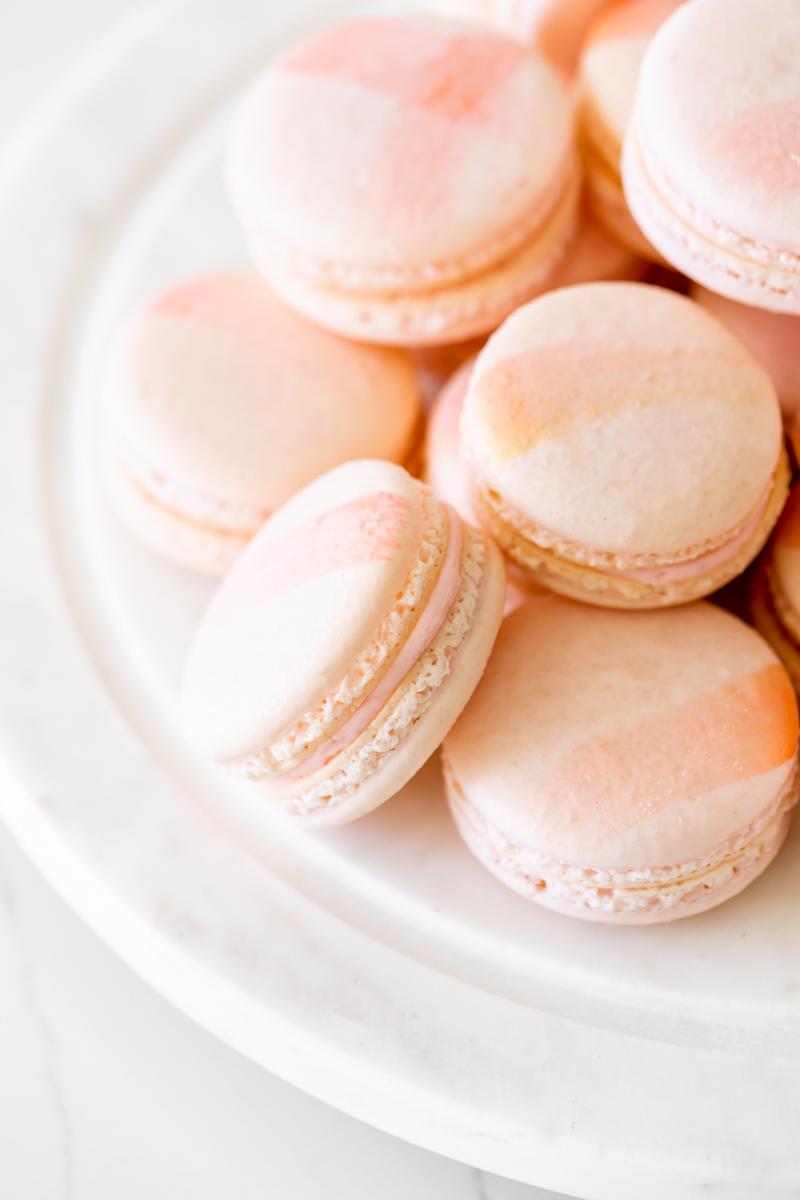 pink spa kids birthday party - raspberry macarons