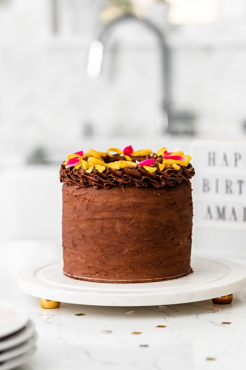 chocolate orange birthday cake - posh little designs