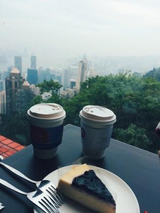 Enjoying the coffee