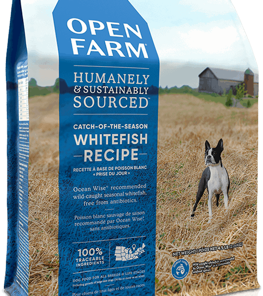 OPEN FARM DOG DRY GRAIN FREE CATCH OF SEASON WHITEFISH LENTIL 12# 1