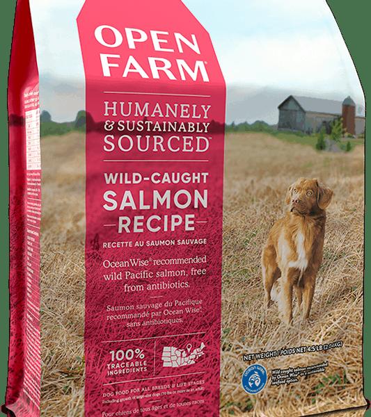 OPEN FARM DOG DRY GRAIN FREE WILD- CAUGHT SALMON 12# 1