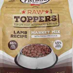 Primal Raw Mix Meal Topper Lamb 5lb