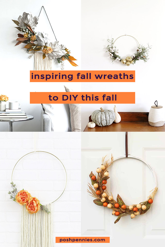 8 Easy And Inspiring Diy Fall Wreaths You Can Make At Home Posh