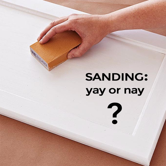 Should I sand my furniture before I paint?