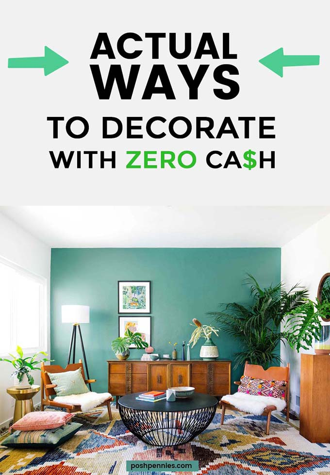 How to decorate with no money or on a very tight budget - How to decorate a house with no money ...