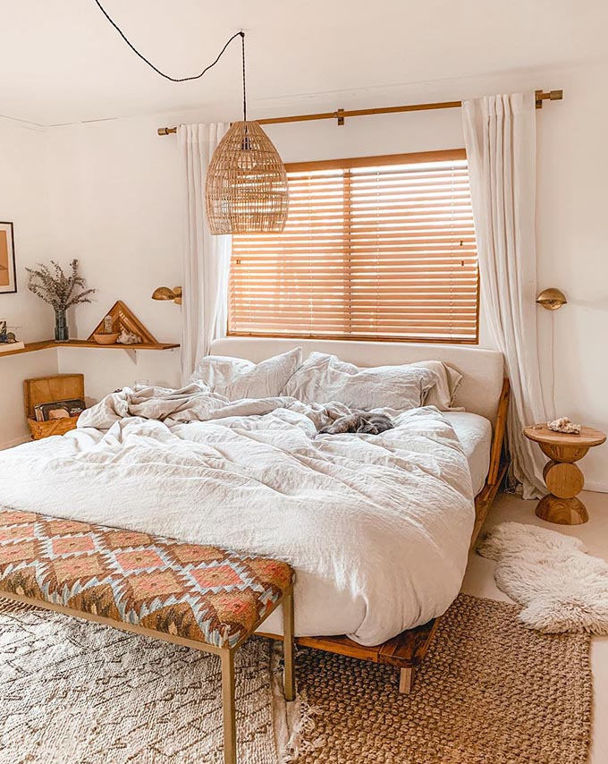 How To Create The Perfect Boho Chic Bedroom   Posh Pennies on Modern Boho Bed Frame  id=35810