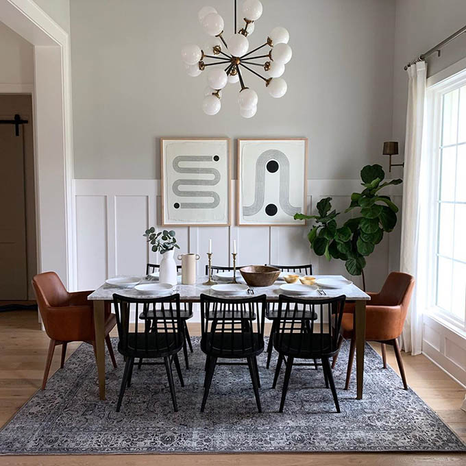 Get The Look: Chic Mid Century Modern Dining Room | Posh Pennies