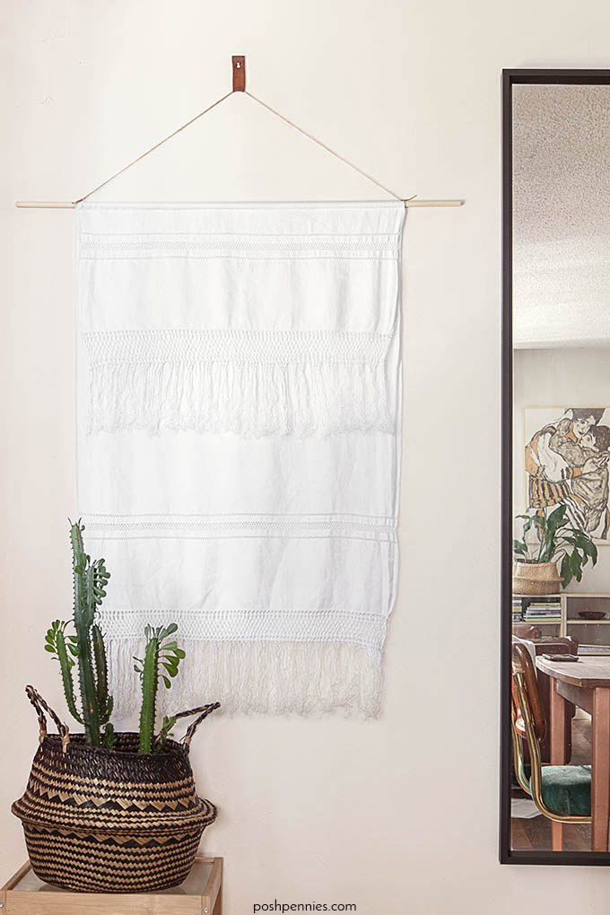 Easiest DIY Wall Hanging You Will EVER Make – No Weaving!
