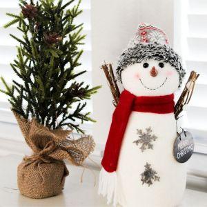 Holidays, Christmas, Farmhouse, Christmas Decor, Snowman, Christmas Tree, Vertical Styled Stock Image
