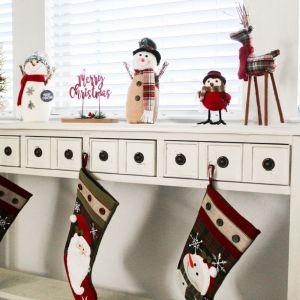 Holidays, Christmas, Farmhouse, Christmas Decor, Reindeer, Snowman, Stockings