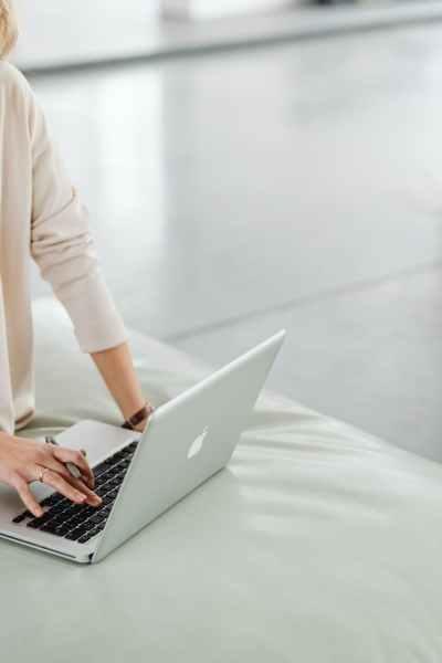 man woman coffee laptop
