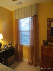 Tailored modern bedroom sheers