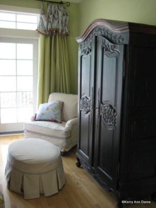 Silk Panels with Toile Valance