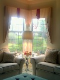 Formal Pleated Valance, Corner Windows