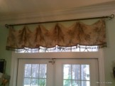 Scarf Valance in Faded Floral Linen
