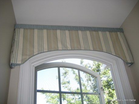 Petite curved box valance in Dormer Window