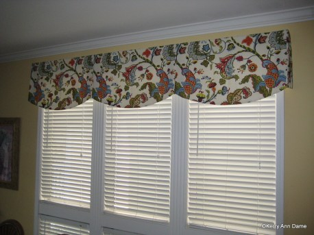 Colorful Wilmington Floral Fabric Valance