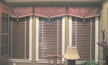 Pennant Valances with Braid Trim and Tassels