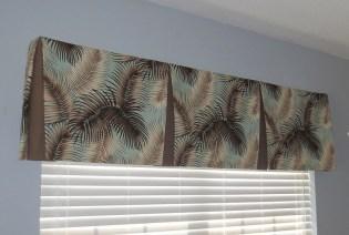 Mana Palm Print Fabric Tailored Valance
