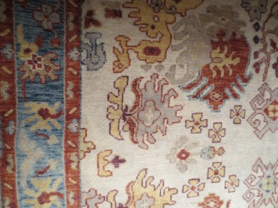 ivory-coral-blue-oushak-carpet