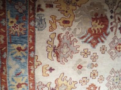 ivory-coral-blue-oushak-carpet