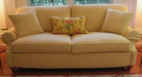 Lido Sofa in yellow diamond pattern mattelasse'
