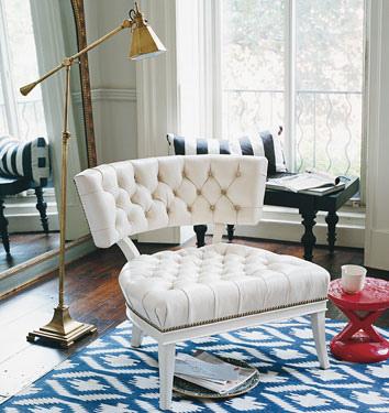 Ikat patterned rug from Madeleine Weinrib Atelier