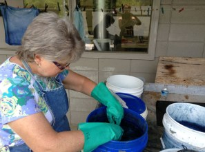 Dipping Cloth Into the Vat