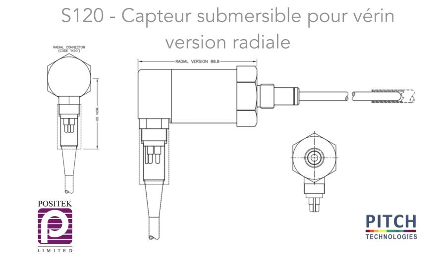 S120 Capteur submersible pour vérin version radiale
