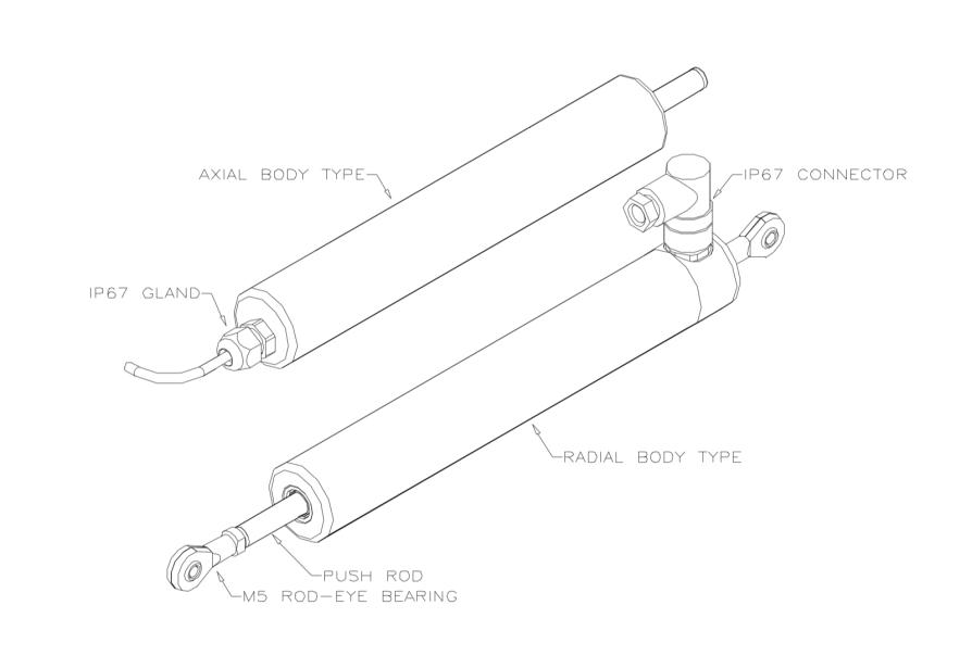 P101 capteur linéaire 0 à 5mm ou 0 à 800mm
