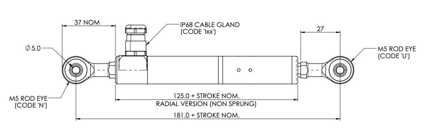 Linear sensor rod eye S119 submersible