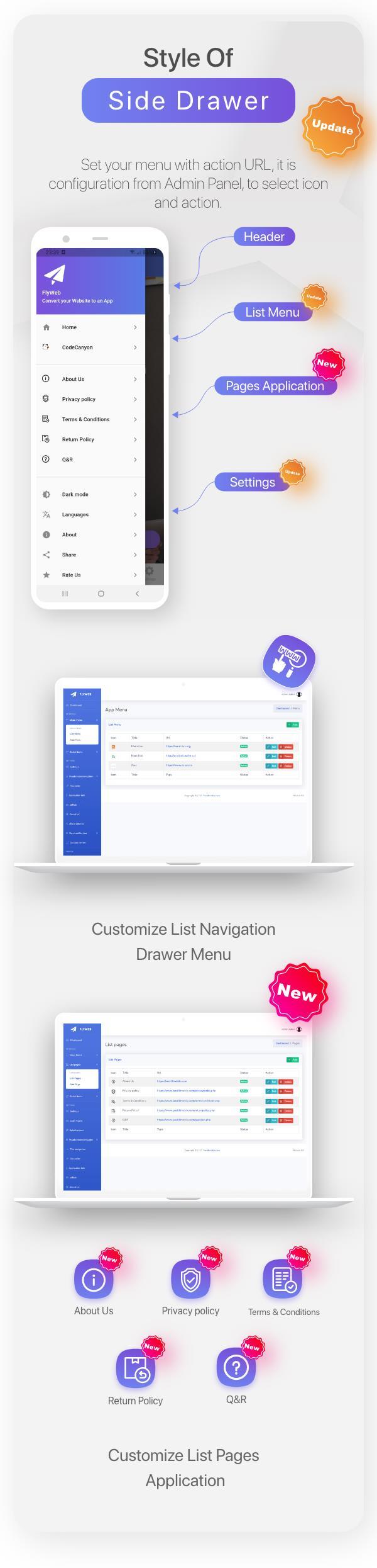 FlyWeb for Web to App Convertor Flutter + Admin Panel - 13