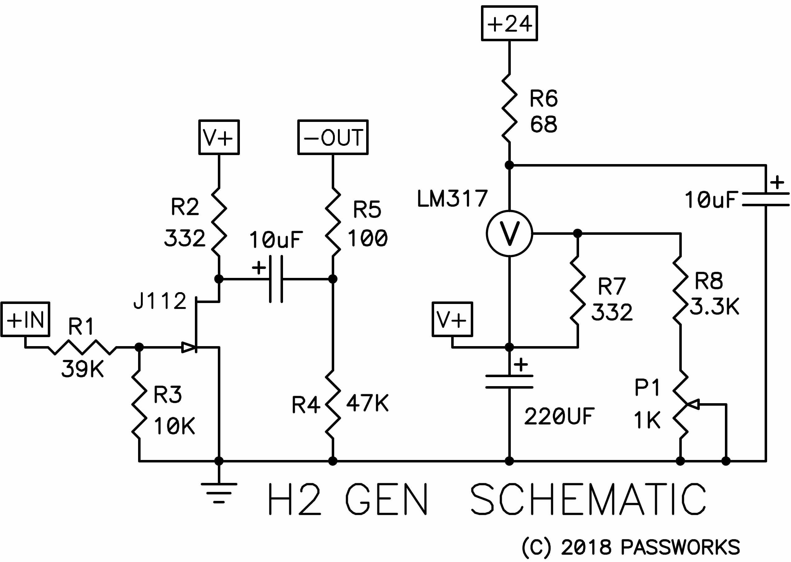 Audio Distribution Amplifier Schematic