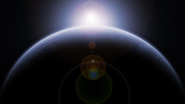 日の出 宇宙 地球