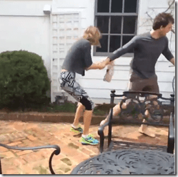 Taylor Swift & Austin Swift Have An Aggressive Easter Egg Hunt