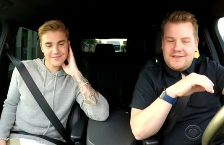James Corden in this Justin Bieber Skit