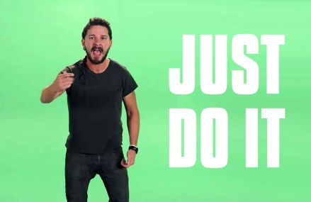 Shia LaBeouf's inspiring video. Listen to his words of inspiration!