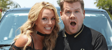 James Corden and Britney Spears