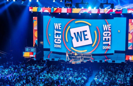 Demi Lovato, Selena Gomez & Seth Rogen at WE Day! Yay for charity!