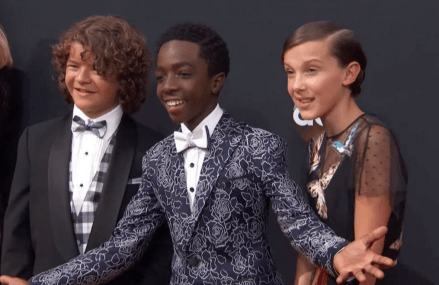 The cast of Stranger Things have arrived at the 2016 Emmys!