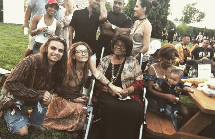 Paris Jackson sings for cancer, watch as her grandmother cheers her on!